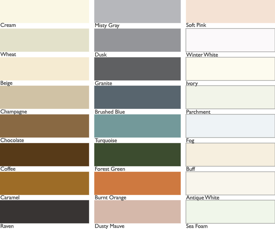 Grout Color Chart